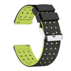 Silicone Quick Release Straps - 18mm (Black/Fluorescent Yellow)