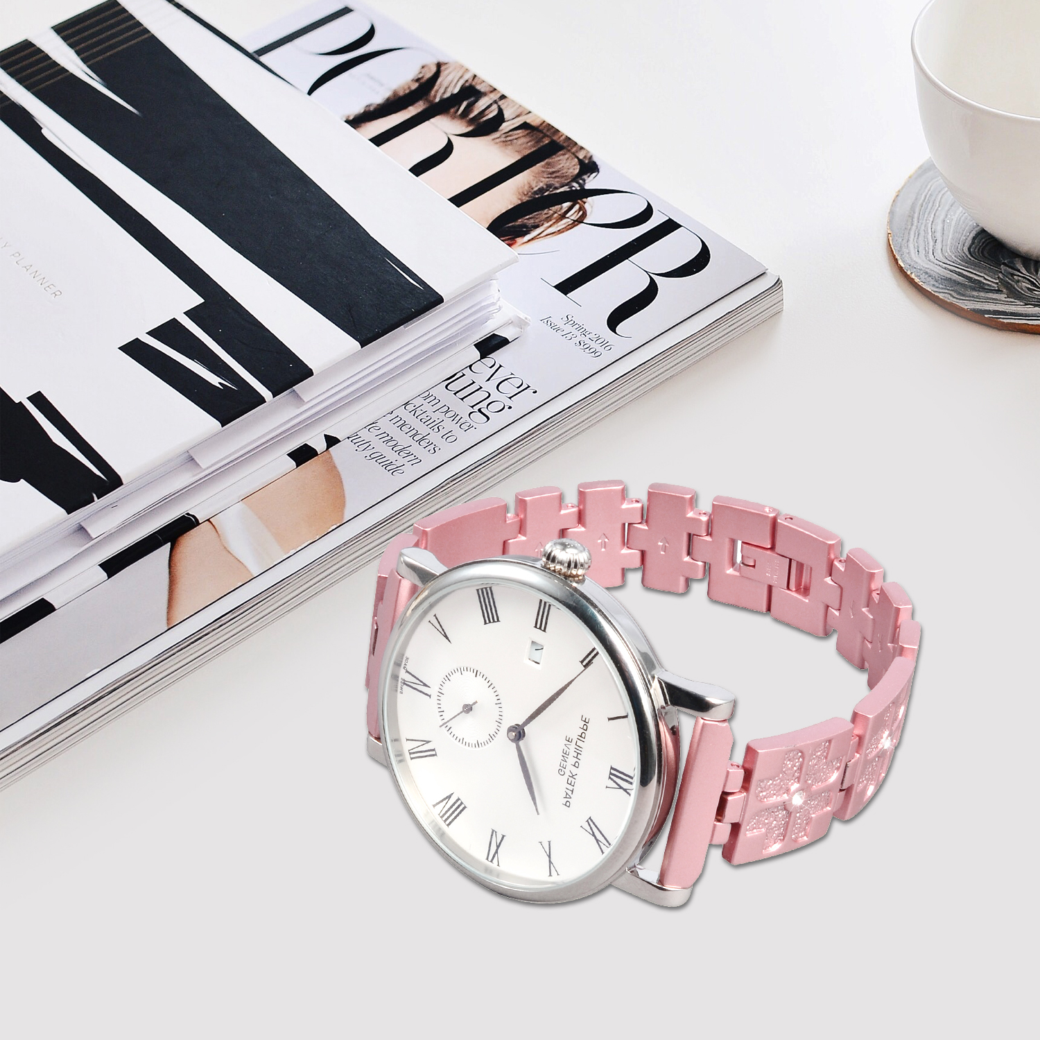 Stainless Steel Women Watch Bracelet - 22mm
