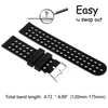Silicone Quick Release Straps - 18mm (Black/Gray)