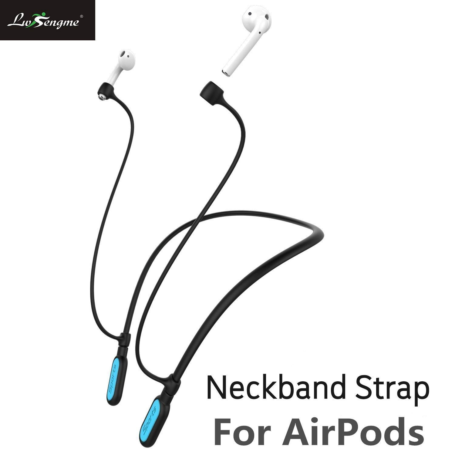Sport Silicone Strap Holder with Wire Cable Connector for Apple Airpods